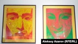 Диптих «Он и она» Александры Калачевой изготовлен при помощи воска. Алматы, 7 марта 2020 года.