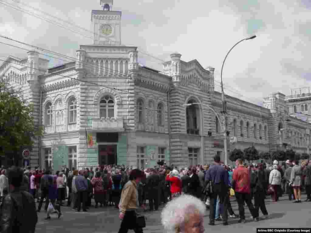 Proteste la Chişinău. 7 septembrie 2000