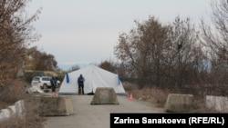 Административная граница Грузии и Южной Осетии. Село Эргнети, 18 марта 2013 года.