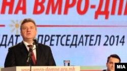 Актуелниот претседател Ѓорге Иванов на Конвенција на ВМРО-ДПМНЕ за избор на претседателски кандидат.