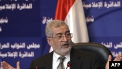 رئيس مجلس النواب العراقي اياد السامرائي في مؤتمر صحافي