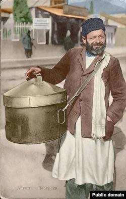 Продавец чебуреков в Алуште