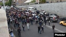 Марш у Єревані, Вірменія, 20 квітня 2018 року
