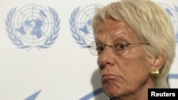 Carla Del Ponte is former chief prosecutor of the UN war crimes court in The Hague.