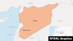 Карта Сирии. Иллюстративное фото.