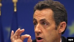 """France's Nicolas Sarkozy called for a """"new form of capitalism."""""""