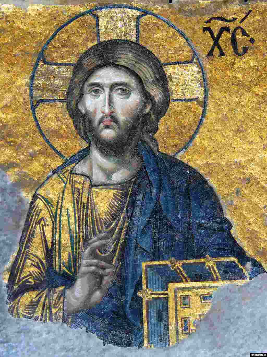 Це фрагмент мозаїки Ісуса, яку науковці датують 1261 роком. У 1934 році у соборі віднайшли кілька старовинних християнських мозаїк, що раніше вважалися втраченими