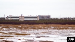 The military base in the small town of Nyonoksa, pictured in 2011