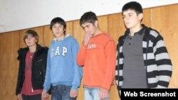 Georgia -- Detained pupils of Tirdznisi secondary school, Tskhinvali, 10Nov2009.
