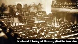 Першае пасяджэньне Асамблеі Лігі Нацый прайшло 15 лістапада 1920 году ў Жэнэве