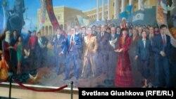 Нұрсұлтан Назарбаев бейнеленген картина. Астана, 12 қыркүйек 2012 жыл.