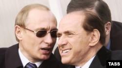 Vladimir Putin və Silvio Berluskoni, 2004