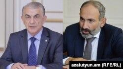 Спикер парламента Ара Баблоян (слева) и премьер-министр Никол Пашинян