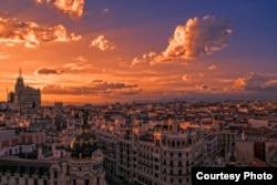 Закат солнца над Мадридом