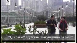 """""""Qış parkı"""" deyərkən təsəvvürünüzə nə gəlir?"""