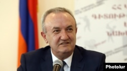 Armenia - Minister of Education, Science, Culture and Sports Vahram Dumanian gives a press conference, April 23, 2021.