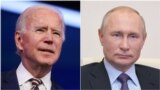USA - Russia -- COMBO -- US president Joe Biden and his Russian counterpart Vladimir Putin, 2020.