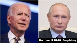 U.S. President Joe Biden (left) and his Russian counterpart, Vladimir Putin (composite file photo)
