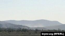 Ulyanov ocağı üstünde toz dumanı