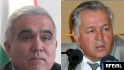 Prosecutor-General Sherkhon Salimzoda (left) and former Tajik Prosecutor-General Bobojon Bobokhonov (collage from file photos)