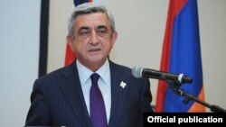 Armenia - President Serzh Sarkisian (archive photo)