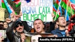 Baku, protestçiler. Arhiw suraty