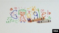 Google yüzlərlə yeniliklərindən biri, Ana səhifənin dəyişən dizaynı olan Doodle rəsmi