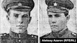 """Копия фотографий погибших в аварии в Алматы в 1968 году солдат, опубликованная в газете """"Красная звезда""""."""