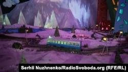 Одна з перших локацій на інтерактивній виставці. 11 лютого 2020 року. «Київ-Пасажирський»