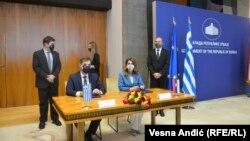 Ministar turizma Grčke Haris Teoharis sa ministarkom turizma Srbije Tatjanom Matić u Beogradu, 29. mart