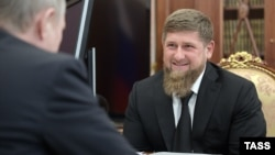 Рамзан Кадыров на приеме у Владимира Путина, архивное фото