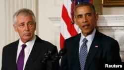 ԱՄՆ - Նախագահ Բարաք Օբաման Սպիտակ տանը հայտարարում է պաշտպանության նախարար Չաք Հեյգելի հրաժարականի մասին, 24-ը նոյեմբերի, 2014թ․
