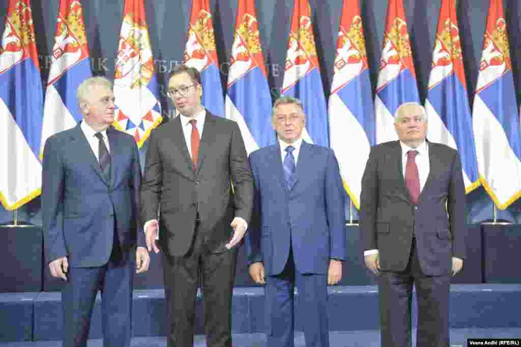 Tomislav Nikolić, Aleksandar Vučić, Zoran Lilić i Milan Milutinović