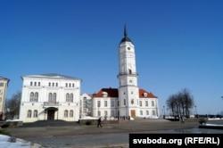 Магілёўская ратуша, у якой месьціцца Музэй гісторыі Магілёва
