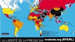 """Libertatea presei în lume, studiu """"Reporteri fără frontiere"""", ediția 2012"""