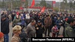 Улан-Удэда полиция башбаштаклыгына каршы митинг