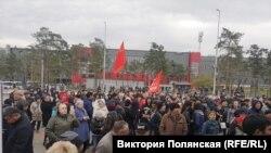 Митинг «В защиту политзаключенных и против полицейского беспредела» в Улан-Удэ. Россия, 29 декабря 2019 года