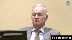 Ratko Mladić u sudnici Haškog suda