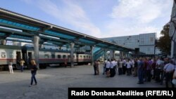 Пуск первой электрички на Еленовку, Донецкий вокзал, 19 августа 2019 года