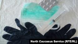 Набор для защиты от коронавируса, иллюстративное фото