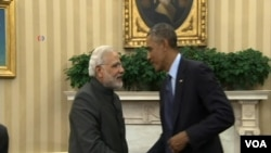U.S. President Barack Obama and Indian Prime Minister Narenda Modi.