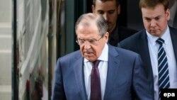 Міністр закордонних справ Росії Сергій Лавров у кулуарах переговорів щодо ядерної програми Ірану