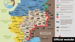 Ситуация на востоке Украины. Карта