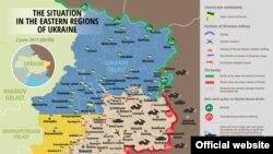 Ситуация на востоке Украины. Карта.
