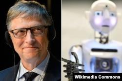 Билл Гейтс и робот