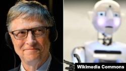 Білл Ґейтс та робот