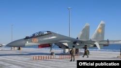 Истребитель Су-30СМ. Фотография опубликована на сайте министерства обороны Казахстана 27 декабря 2016 года.