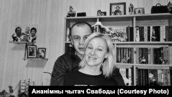 Уладзімер Буйко зь сяброўкай Ірынай.