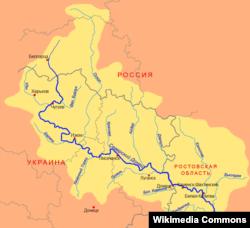 Мапа Сіверського Дінця