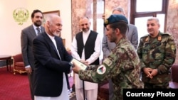 Afghan President Ashraf Ghani awarded Essa Khan with a new home for killing militants who tried to storm parliament on June 22.